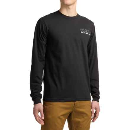 Kavu Race Day T-Shirt - Long Sleeve (For Men) in Black - Closeouts