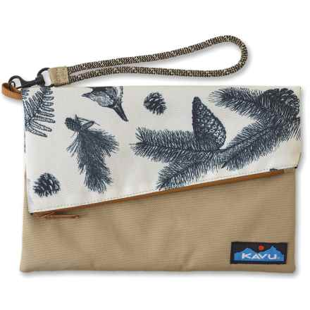 Kavu Roll-Up Clutch Purse (For Women) in Snow Timber - Closeouts