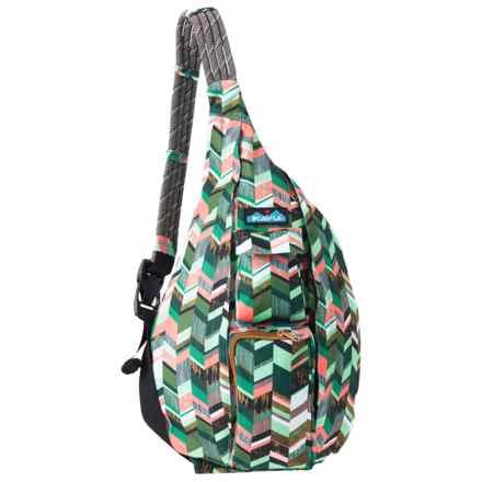 Kavu Rope Sling Bag (For Women) in Coastal Blocks - Closeouts
