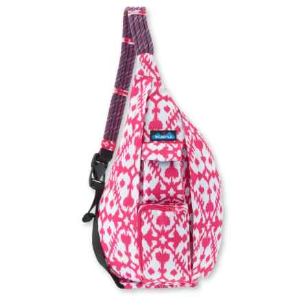 Kavu Rope Sling Bag (For Women) in Pink Blot - Closeouts
