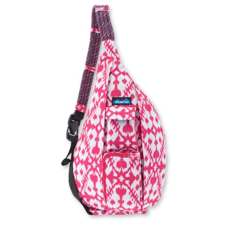 Kavu Rope Sling Bag For Women In Pink Blot