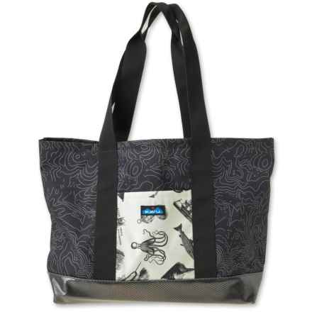 Kavu Shilshole Oversized Tote Bag (For Women) in Black Topo - Closeouts
