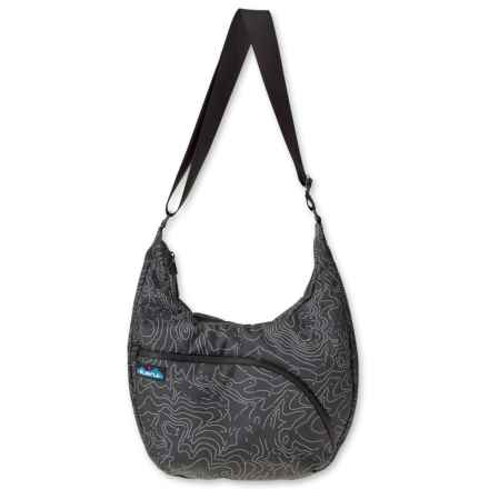 Kavu Singapore Satchel Shoulder Bag (For Women) in Black Topo - Closeouts
