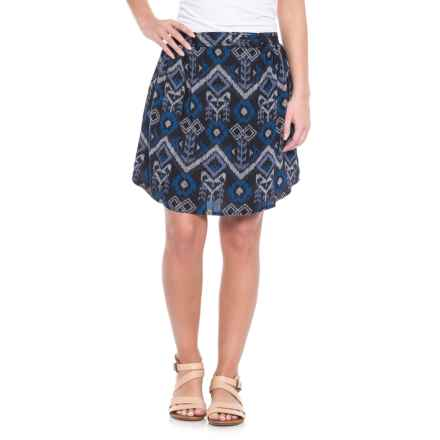 Kavu South Beach Free Flown Skirt (For Women) in Blue Ikat - Closeouts