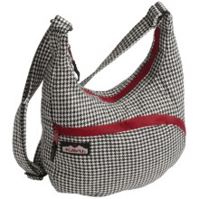 Kavu Sydney Satchel Bag in Black Houndstooth - Closeouts