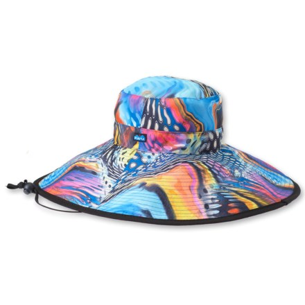 Kavu Synthetic Long Brim Hat (For Women) in Reef Party - Closeouts c1b278cb5585