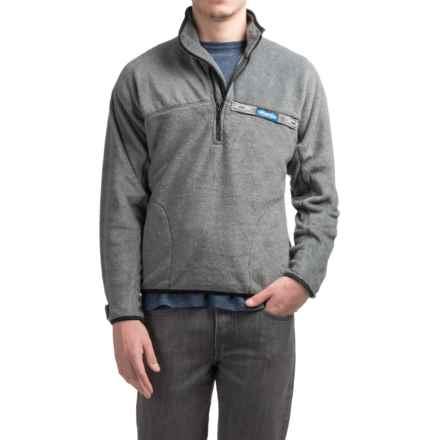 Kavu Throwshirt Fleece Pullover Shirt - Zip Neck (For Men) in Charcoal - Closeouts