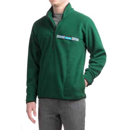 Kavu Throwshirt Fleece Pullover Shirt - Zip Neck (For Men) in Pine - Closeouts