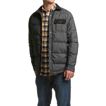 Kavu Wayward Quilted Shirt Jacket - Insulated (For Men) in Black - Closeouts