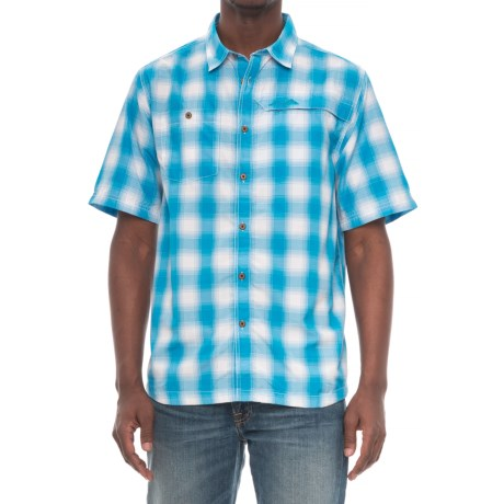 Kavu Zip-Pocket Plaid Shirt - UPF 30+, Short Sleeve (For Men) in Blue Scout