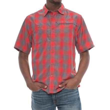 Kavu Zip-Pocket Plaid Shirt - UPF 30+, Short Sleeve (For Men) in Wakeley Cardinal - Closeouts