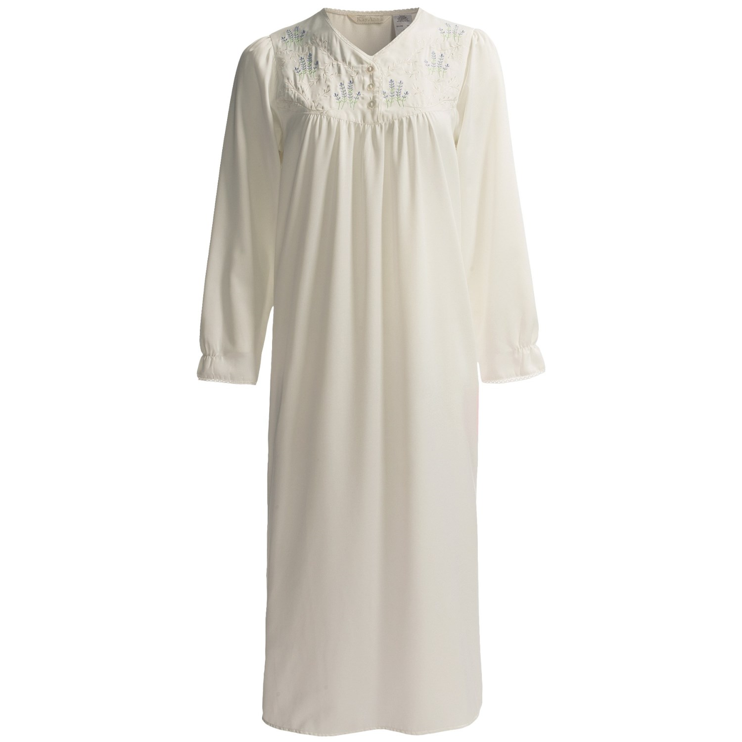 ... Brushed Back Satin Nightgown - Long Sleeve (For Women) - Save 45%