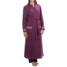 KayAnna Brushed Double Knit Wrap Robe - Long Sleeve (For Women) in Wine - Overstock