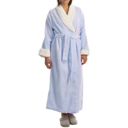 KayAnna Chenille Wrap Robe - Long Sleeve (For Women) in Periwinkle - Overstock