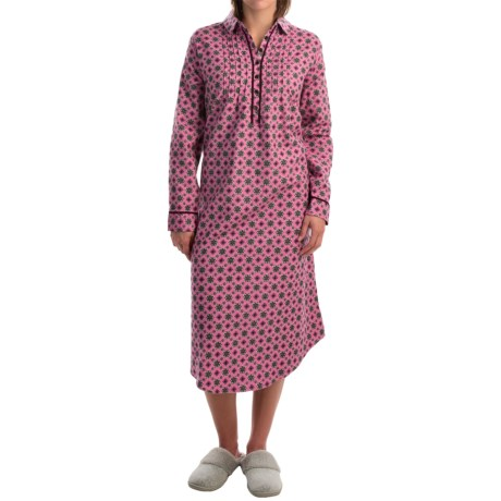 KayAnna Foulard Flannel Nightgown - Long Sleeve (For Women)