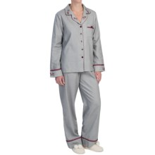 KayAnna Herringbone Pajamas - Long Sleeve (For Women) in Grey - Closeouts