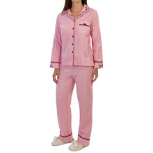 KayAnna Herringbone Pajamas - Long Sleeve (For Women) in Rose - Closeouts