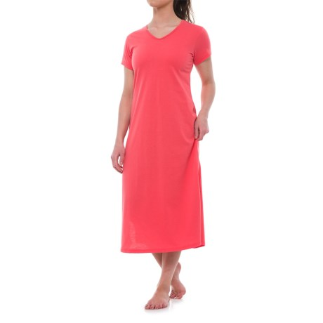 KayAnna Lounge Shirt - Short Sleeve (For Women) in Coral