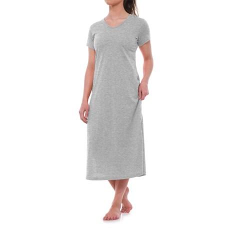 KayAnna Lounge Shirt - Short Sleeve (For Women) in Heather Grey