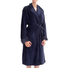 KayAnna Powder Velour Wrap Robe - Long Sleeve (For Women) in Navy - Closeouts