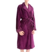 KayAnna Powder Velour Wrap Robe - Long Sleeve (For Women) in Wine - Closeouts