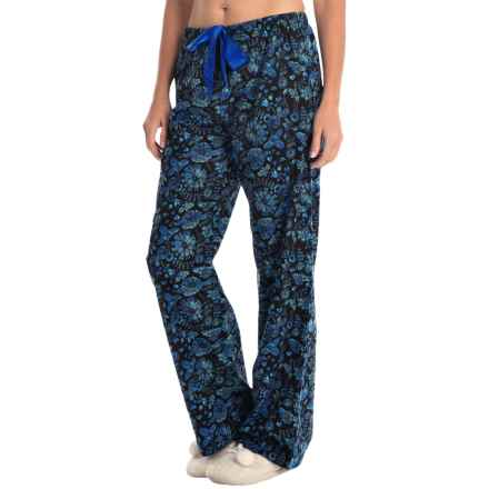 KayAnna Printed Flannel Pajama Bottoms - Cotton (For Women) in Birds - Closeouts