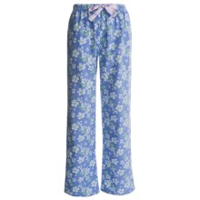 KayAnna Printed Flannel Pajama Bottoms - Cotton (For Women) in Blue Clair De Lune - Closeouts