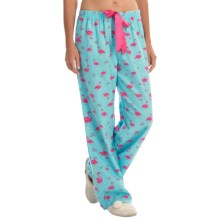 KayAnna Printed Flannel Pajama Bottoms - Cotton (For Women) in Flamingos - Closeouts
