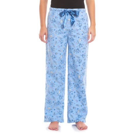 KayAnna Printed Flannel Pajama Bottoms - Cotton (For Women) in Forest