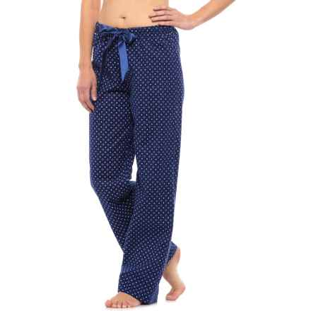 KayAnna Printed Flannel Pajama Bottoms - Cotton (For Women) in Navy Diamonds - Closeouts