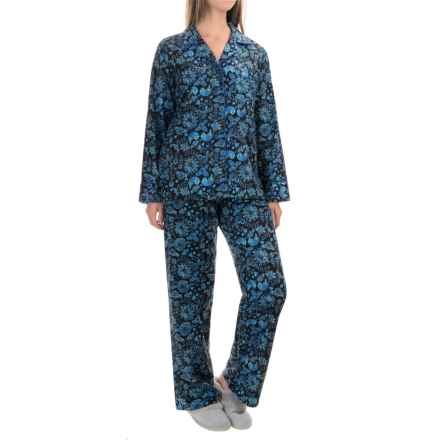 KayAnna Printed Flannel Pajama Set - Cotton, Long Sleeve (For Women) in Birds - Closeouts