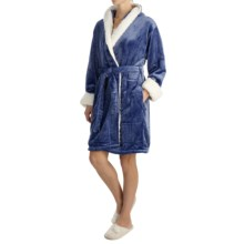 KayAnna Shimmer Hooded Robe - Long Sleeve (For Women) in Blue - Overstock