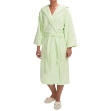 KayAnna Spa Plush Hooded Robe - Long Sleeve (For Women) in Celery - Closeouts