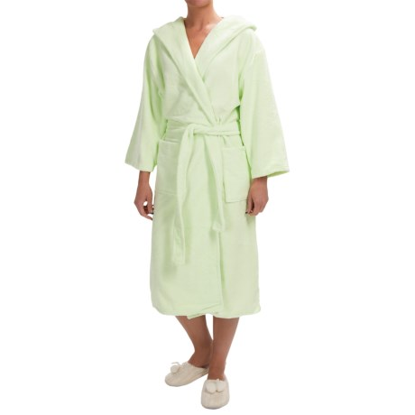 KayAnna Spa Plush Hooded Robe Long Sleeve (For Women)