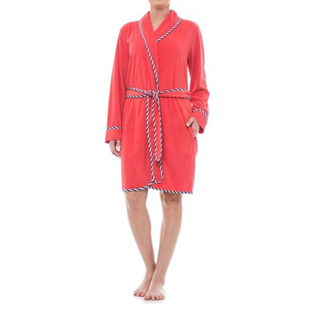 17f444bdb7 KayAnna Terry Wrap Robe - Long Sleeve (For Women) in Coral - Closeouts