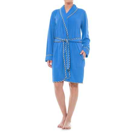 KayAnna Terry Wrap Robe - Long Sleeve (For Women) in Royal - Closeouts