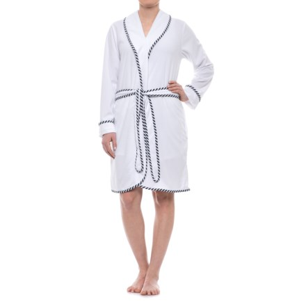 6ea8af774230 KayAnna Terry Wrap Robe - Long Sleeve (For Women) in White - Closeouts