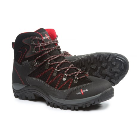 Kayland Ascent K Gore-Tex® Hiking Boots - Waterproof (For Men) in Black/Red