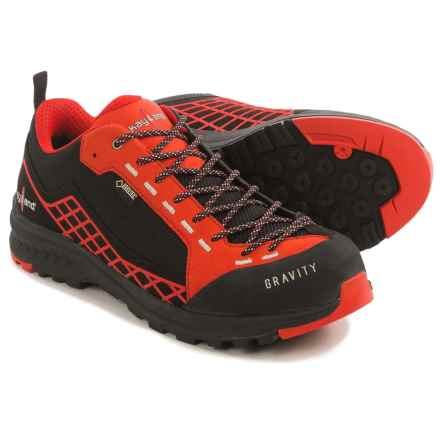 Kayland Gravity Gore-Tex® Hiking Shoes - Waterproof (For Men) in Black/Red - Closeouts