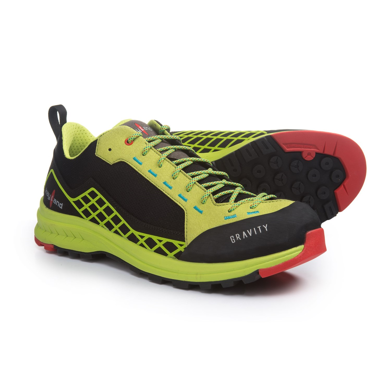 7bd169bf16f8 Kayland Gravity Hiking Shoes (For Men) in Black Lime