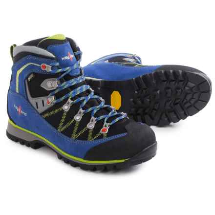 Kayland Plume Micro Gore-Tex® Hiking Boots - Waterproof (For Men) in Cobalt Lime - Closeouts