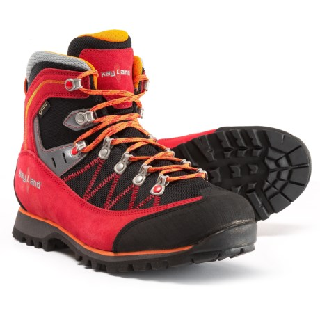 Kayland Plume Micro Gore-Tex® Hiking Boots - Waterproof (For Men) in Red