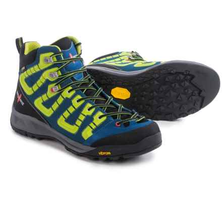 Kayland Raptor K Gore-Tex® Hiking Shoes - Waterproof (For Men) in Blue Lime - Closeouts