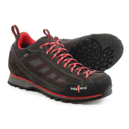 Kayland Spyder Low Gore-Tex® Approach Shoes - Waterproof (For Men) in Anthracite/Red - Closeouts