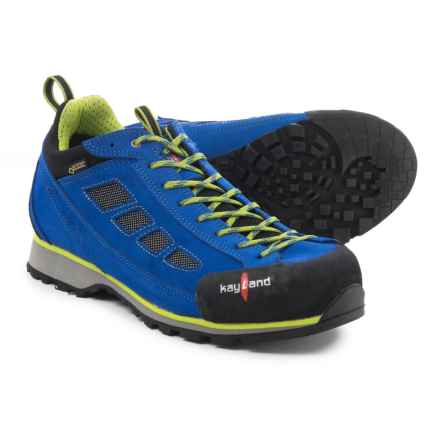 Kayland Spyder Low Gore-Tex® Approach Shoes - Waterproof (For Men) in Blue/Lime - Closeouts