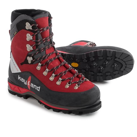 Kayland Super Ice EVO Gore-Tex® Mountaineering Boots - Waterproof, Insulated (For Men) in Black/Red