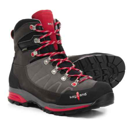 Kayland Titan Rock Gore-Tex® Hiking Boots - Waterproof (For Men) in Grey/Red - Closeouts