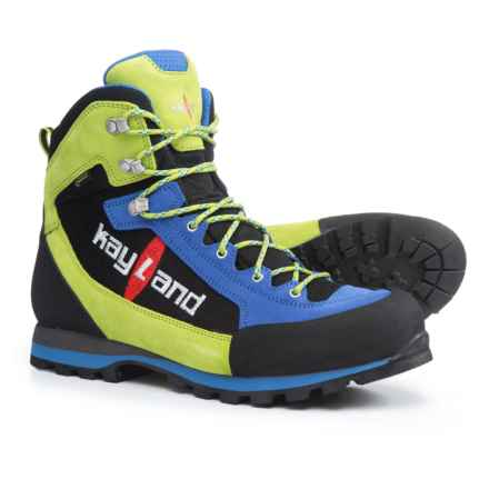 Kayland XM Lite Gore-Tex® Hiking Boots - Waterproof (For Men) in Blue/Lime - Closeouts