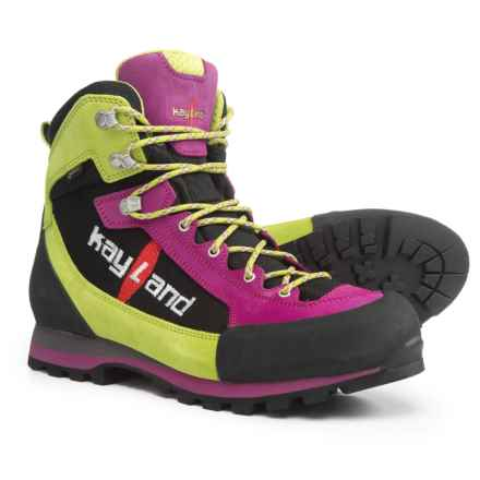Kayland XM Lite Gore-Tex® Hiking Boots - Waterproof (For Women) in Pink/Lime - Closeouts