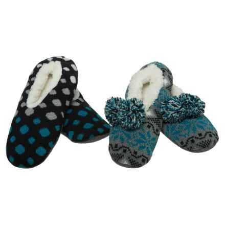 K.Bell Slipper Socks - 2-Pack (For Women) in Charcoal Heather - Closeouts